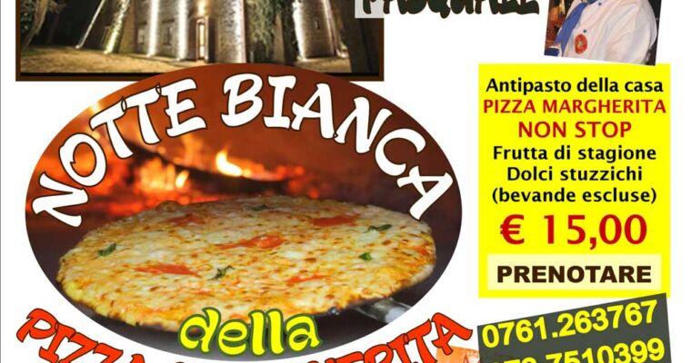 La notte bianca della Pizza margherita sabato 16 luglio