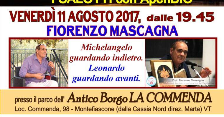 """Michelangelo guardando indietro. Leonardo guardando avanti"":"