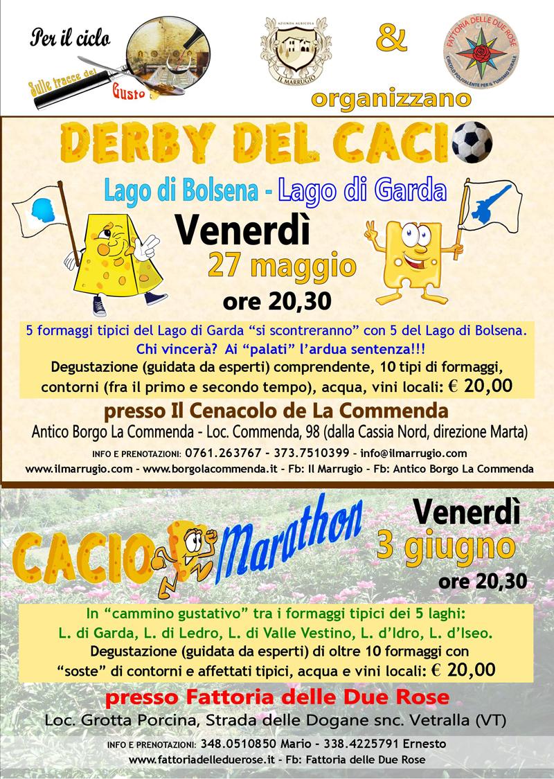 """Un """"Derby del Cacio"""" ed una """"CacioMarathon"""" per gli appassionati di formaggio."""